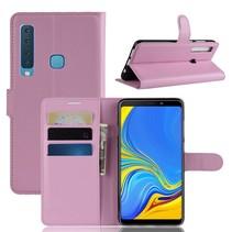 Litchee Booktype Hoesje Samsung Galaxy A9 (2018) - Roze