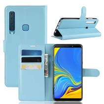 Litchee Booktype Hoesje Samsung Galaxy A9 (2018) - Blauw