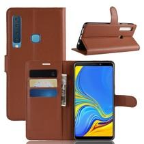 Litchee Booktype Hoesje Samsung Galaxy A9 (2018) - Bruin