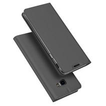 Dux Ducis Booktype Hoesje Samsung Galaxy J4 Plus - Donker Grijs