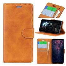 Booktype Hoesje Samsung Galaxy J4 Plus - Bruin