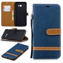 Booktype Hoesje Samsung Galaxy J4 Plus - Donker Blauw