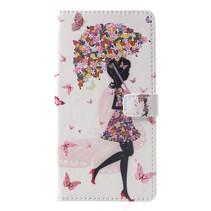 Paraplu Meisje Booktype Hoesje Huawei Nova 3