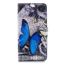 Blauwe Vlinder Booktype Hoesje Huawei Nova 3