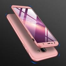 Gkk Hardcase Hoesje Samsung Galaxy J4 Plus - Roze / Goud