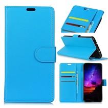 Litchee Booktype Hoesje Huawei P Smart 2019 - Blauw