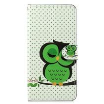 Groene Uil Booktype Hoesje Samsung Galaxy J4 Plus
