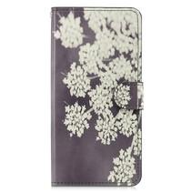 Witte Bloesem Booktype Hoesje Samsung Galaxy J4 Plus