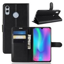 Litchee Booktype Hoesje Huawei P Smart 2019 - Zwart