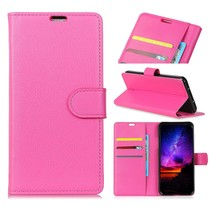 Litchee Booktype Hoesje Huawei P Smart 2019 - Roze