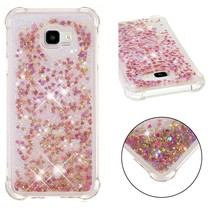 Glitters TPU Hoesje Samsung Galaxy J4 Plus - Rood