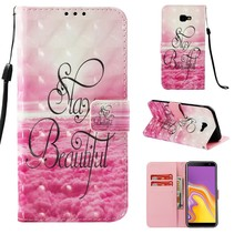 Stay Beautiful Booktype Hoesje Samsung Galaxy J4 Plus