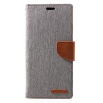 Mercury Goospery Booktype Hoesje Samsung Galaxy J4 Plus - Grijs