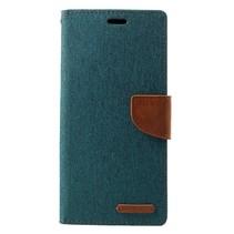 Mercury Goospery Booktype Hoesje Samsung Galaxy J4 Plus - Groen