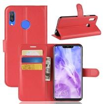Litchee Booktype Hoesje Huawei P Smart Plus - Rood