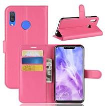 Litchee Booktype Hoesje Huawei P Smart Plus - Roze