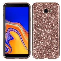 Glitters Hybrid Hoesje Samsung Galaxy J4 Plus - Roze / Goud