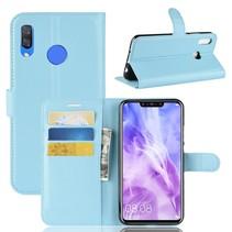 Litchee Booktype Hoesje Huawei P Smart Plus - Blauw