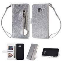 Booktype Hoesje Samsung Galaxy J4 Plus - Zilver
