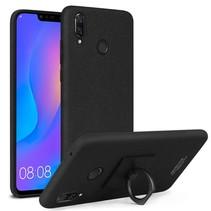 Imak Hardcase Hoesje Huawei P Smart Plus - Zwart