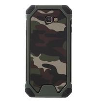 Camouflage Hybrid Hoesje Samsung Galaxy J4 Plus - Groen