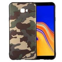 Camouflage TPU Hoesje Samsung Galaxy J4 Plus - Groen
