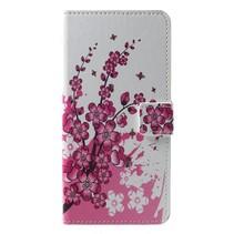 Roze Bloesem Booktype Hoesje Huawei P Smart Plus