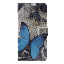 Blauwe Vlinder Booktype Hoesje Huawei P Smart Plus