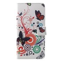 Vlinder en Cirkels Booktype Hoesje Huawei P Smart Plus