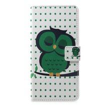 Groene Uil Booktype Hoesje Huawei P Smart Plus