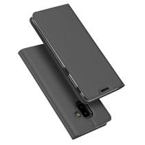Dux Ducis Booktype Hoesje Samsung Galaxy J6 Plus - Donker Grijs
