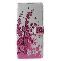 Roze Bloesem Booktype Hoesje Samsung Galaxy J6 Plus