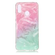 Marmer TPU Hoesje Huawei P Smart Plus - Roze / Groen
