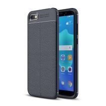 Litchee TPU Hoesje Huawei Y5 (2018) - Donker Blauw