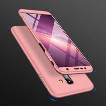 Gkk Hardcase Hoesje Samsung Galaxy J6 Plus - Roze / Goud
