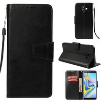 Booktype Hoesje Samsung Galaxy J6 Plus - Zwart