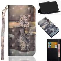 Kat Booktype Hoesje Samsung Galaxy J6 Plus