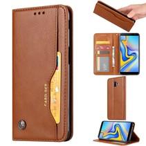 Booktype Hoesje Samsung Galaxy J6 Plus - Bruin