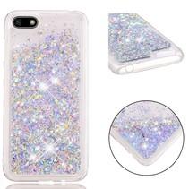 Glitters TPU Hoesje Huawei Y5 (2018) - Zilver