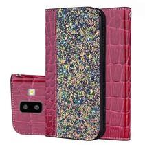 Glitters Booktype Hoesje Samsung Galaxy J6 Plus - Rood