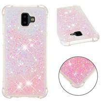 Glitters TPU Hoesje Samsung Galaxy J6 Plus - Roze