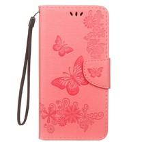 Vlinders Booktype Hoesje Samsung Galaxy J6 Plus - Roze