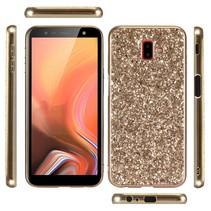 Glitters Hybrid Hoesje Samsung Galaxy J6 Plus - Goud