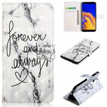 Forever And Always Booktype Hoesje Samsung Galaxy J6 Plus