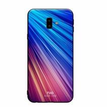 Nxe Hardcase Hoesje Samsung Galaxy J6 Plus - Blauw / Paars