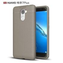 Litchee TPU Hoesje Huawei Y7 Prime - Grijs
