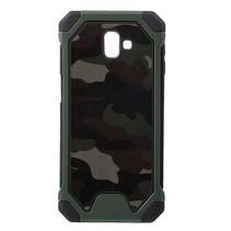 Camouflage Hybrid Hoesje Samsung Galaxy J6 Plus - Groen