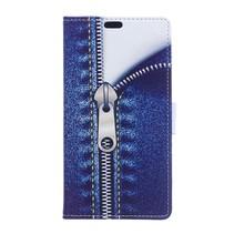 Jeans Booktype Hoesje Huawei Y7 Prime