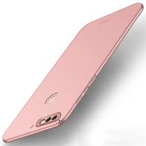 Mofi Hardcase Hoesje Huawei Y7 Prime - Roze / Goud