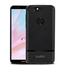 Litchee TPU Hoesje Huawei Y7 Prime - Zwart